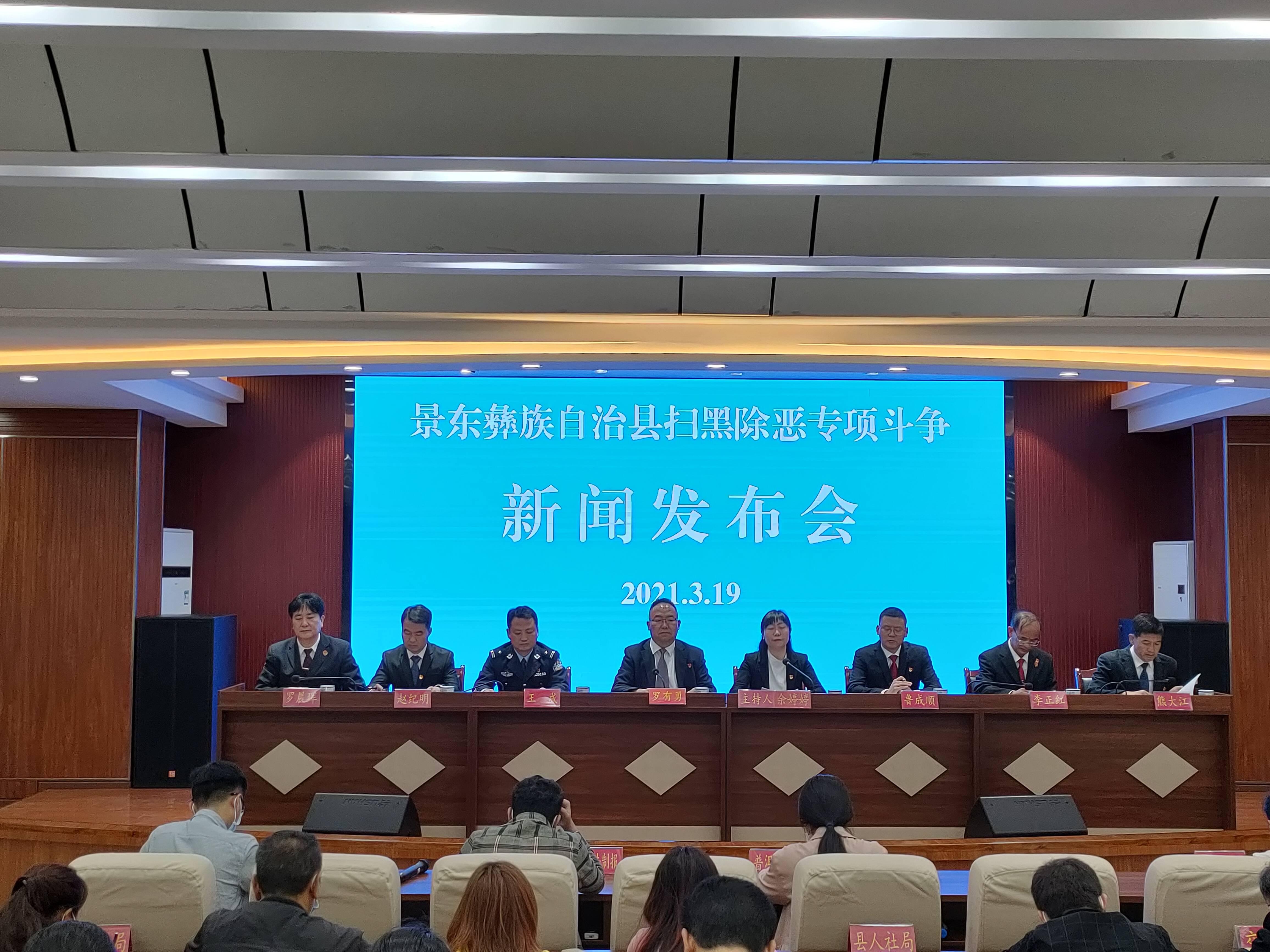 景东彝族自治县召开扫黑除恶专项斗争新闻发布会